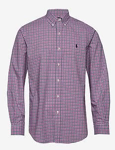 NATURAL STRCH POPLN-CUBDPPCS - checkered shirts - 4666b pink/blue m