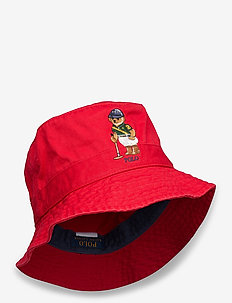 Polo Bear Chino Bucket Hat - bucket hats - rl2000 red