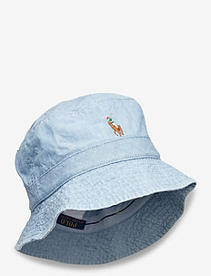 Chambray Bucket Hat - bucket hats - blue chambray