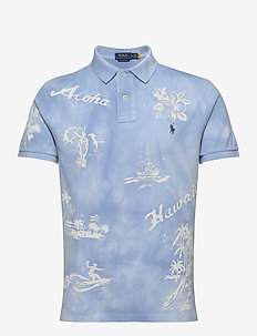 Custom Slim Fit Tropical Polo - polos à manches courtes - french blue print