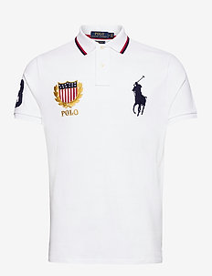 Custom Slim Fit Mesh Polo - polos à manches courtes - white