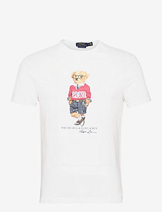 Custom Slim Polo Bear T-Shirt - kortärmade t-shirts - white