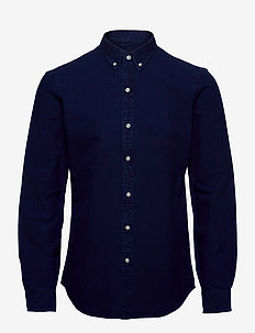 Slim Fit Indigo Oxford Shirt - basic skjorter - indigo
