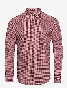 Slim Fit Striped Poplin Shirt - rutiga skjortor - 2365 e burgundy/