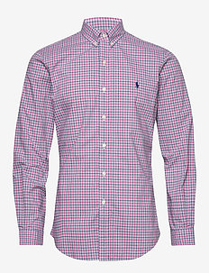 Slim Fit Striped Poplin Shirt - ternede skjorter - 4666b pink/blue m