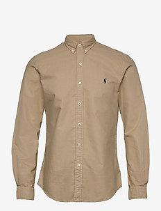 Slim Fit Oxford Shirt - casual shirts - surrey tan