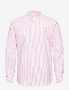 Custom Fit Striped Shirt - casual shirts - 2600b rose pink/w