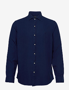 TEXTURE INDIGO WEAV-SLESTPPCS - chemises basiques - 4783 dark indigo