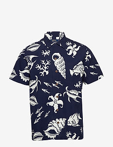 PRINT BEACH POPLIN-CUADYPKPPHSS - short-sleeved shirts - 4715 reef life