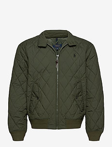 Water-Repellent Quilted Jacket - quilted jackets - company olive