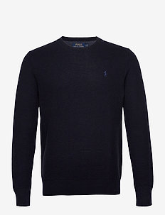 Cotton Crewneck Sweater - basic-strickmode - navy heather