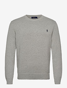 Cotton Crewneck Sweater - tricots basiques - andover heather