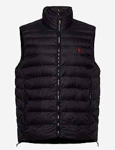 Packable Quilted Vest - vests - polo black
