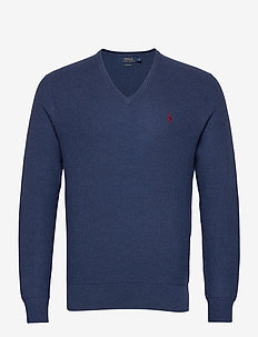 PIMA COTTON-LS TEXTURE VN - basic-strickmode - rustic navy heath