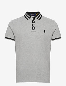Custom Slim Fit Mesh Polo - korte mouwen - andover heather