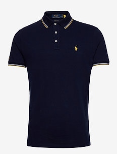 Custom Slim Fit Mesh Polo - korte mouwen - cruise navy