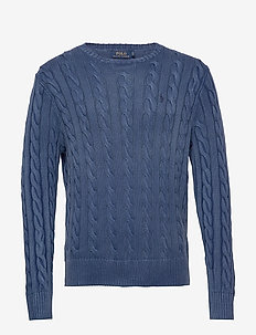 COTTON CABLE-LSL-SWT - basic strik - aged royal