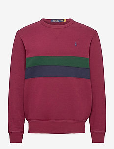 Striped Fleece Sweatshirt - tops - classic wine mult