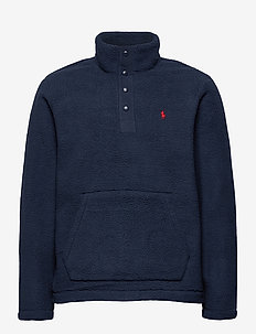 Fleece Mockneck Pullover - basic sweatshirts - cruise navy