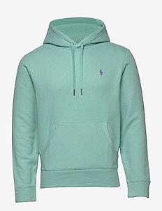Cotton-Blend-Fleece Hoodie - basic sweatshirts - bayside green/c73