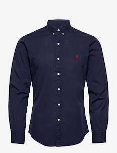 GD CHINO-SLBDPPCS - casual overhemden - cruise navy