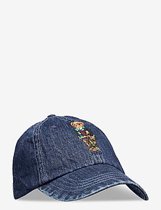 Preppy Bear Chino Cap - caps - denim