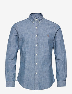 CHAMBRAY-SLBDPPCS - casual overhemden - medium indigo