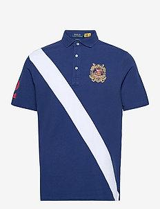 Classic Fit Mesh Polo Shirt - kortärmade pikéer - freshwater multi