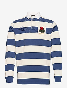 Classic Fit Striped Jersey Rugby Shirt - langärmelig - old royal multi