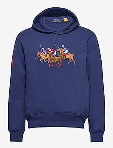 Triple-Pony Crest Fleece Hoodie - kapuzenpullover - freshwater