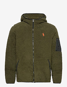 Fleece Full-Zip Hoodie - basic-sweatshirts - company olive