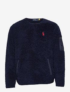 Fleece Utility Pullover - basic-sweatshirts - cruise navy