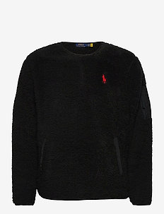 Fleece Utility Pullover - basic sweatshirts - polo black