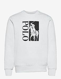 Big Pony Logo Double-Knit Sweatshirt - swetry - white