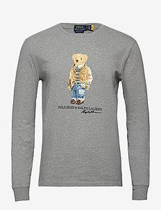 Custom Slim Fit Polo Bear T-Shirt - langærmede t-shirts - andover heather