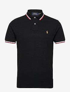Lunar New Year Custom Slim Polo Shirt - kurzärmelig - polo black