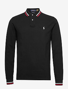 Lunar New Year Custom Slim Polo Shirt - long-sleeved polos - polo black