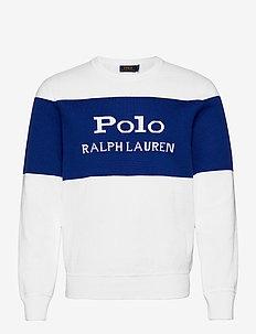 Color-Blocked Logo Sweater - overdeler - white