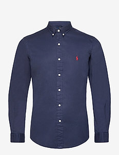 Slim Fit Garment-Dyed Twill Shirt - oxford shirts - cruise navy