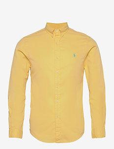 Slim Fit Garment-Dyed Twill Shirt - oxford-skjortor - empire yellow