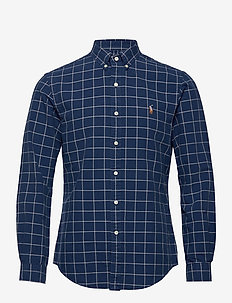 Slim Fit Checked Oxford Shirt - oxford skjorter - 5208a navy/grey h