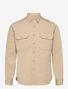 Classic Fit Twill Workshirt - podstawowe koszulki - 3419 khaki