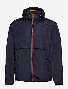Water-Repellent Hooded Jacket - windjassen - collection navy
