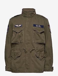 Herringbone Field Jacket - windjassen - soldier olive w/