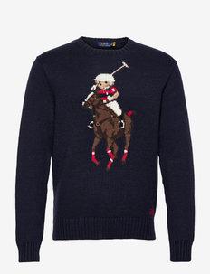 Polo Bear & Big Pony Sweater - pulls col rond - navy