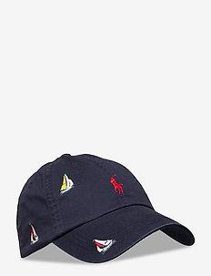 Embroidered Sailboat Ball Cap - kepsar - nautical ink w/ s
