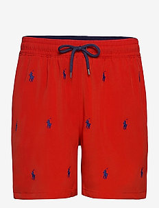 5.5-Inch Traveler Swim Trunk - swim shorts - rl 2000 red w/ na