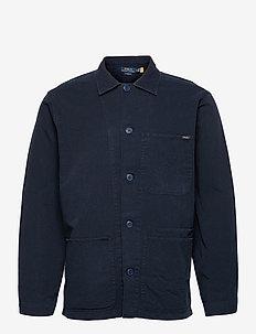 Twill Utility Overshirt - kläder - collection navy