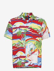 PRINTED RAYON-CLADYPKPPHSS - short-sleeved shirts - 5346 discovery ba