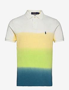 Custom Slim Fit Dip-Dyed Mesh Polo Shirt - kortärmade pikéer - bright navy dip d